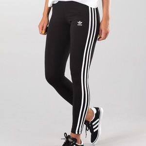BRAND NEW Adidas W striped black leggings size xxs